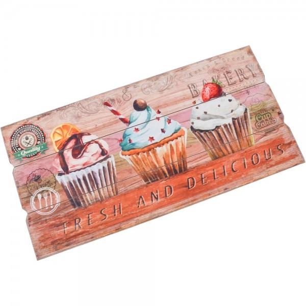 Skylt Cupcakes Trä